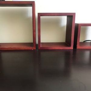 3-piece wall mounted box shelves